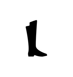 flat knee boot icon vector image