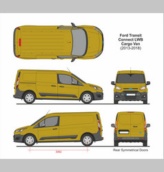 Ford transit connect lwb cargo 5 doors 2013-2018 vector