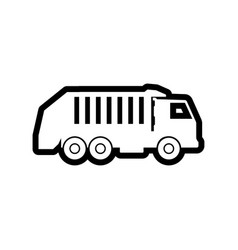 Garbage truck icon design template isolated vector