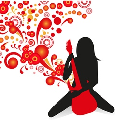 girl playing guitar vector image