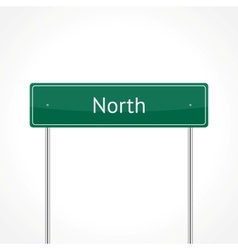 Green north traffic sign vector image