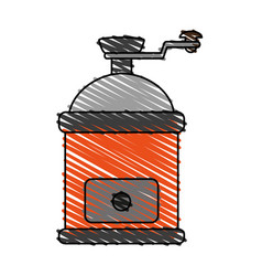 Grinder coffee related icon image vector