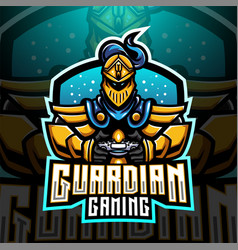 guardian gaming esports mascot logo design vector image