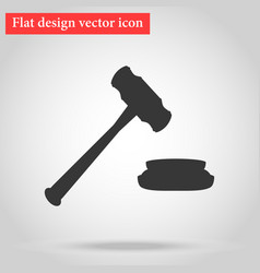 hammer for the auction and the judge in the vector image