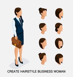 Isometric businesswomen vector