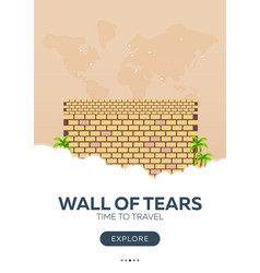 Israel wall of tears time to travel travel vector