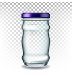 jar glass with blue cap for storage coffee vector image