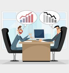 joyful and unhappy businessmen vector image