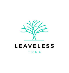 Leafless tree logo icon vector