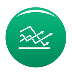 line chart icon green vector image