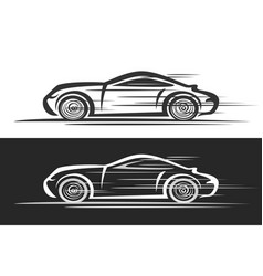 logo for sports car vector image