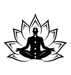 Meditation lotus isolated vector