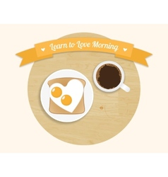 Morning breakfast round icon vector image