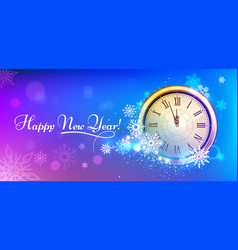 new 2020 year winter clock winter holidays vector image