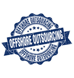 offshore outsourcing stamp sign seal vector image