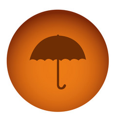 orange emblem sticker umbrella icon vector image