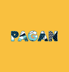 Pagan concept word art vector