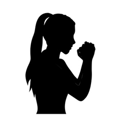 person in prayer icon image vector image