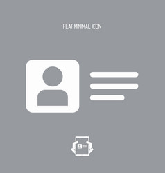 personal account - flat minimal icon vector image