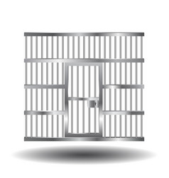 prison door with bars vector image