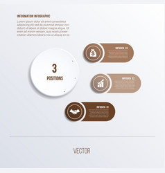 Process chart template for presentation 3 option vector