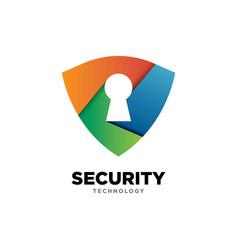 protection symbol logo design template mod vector image