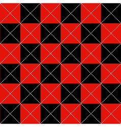 Red Black Chess Board Diamond Background vector