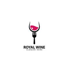 Royal wine logo design icon vector