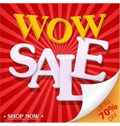 Sale celebration design with percent discount vector image