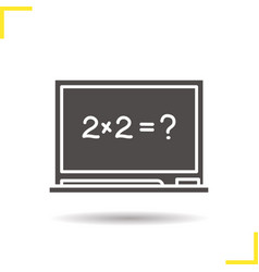 School blackboard glyph icon vector