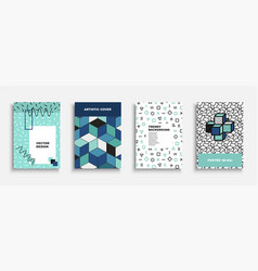 set colorful contemporary covers vector image