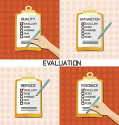 Set evaluation approve quality check vector