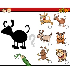 Shadows activity with dogs vector