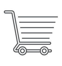 shopping cart thin line icon e commerce vector image