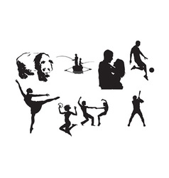Silhouettes vector image