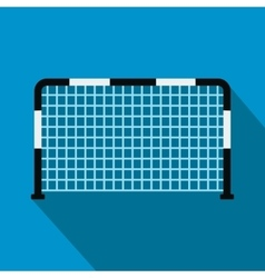 Soccer goal flat icon vector image