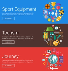 Sport Equipment Tourism Journey Flat Design vector