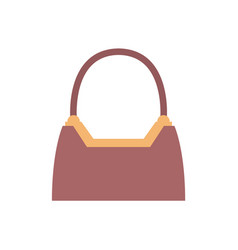 Stylish expensive female handbag of brown leather vector