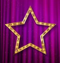 Transparent golden star vector