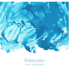turquoise navy blue indigo watercolor texture vector image