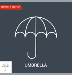Umbrella icon thin line vector
