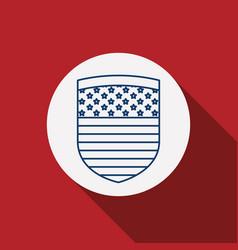 usa flag inside circle design vector image