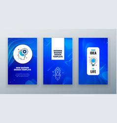 Vertical banner design for social networks vector