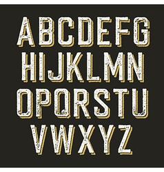 Vintage alphabet letters vector image