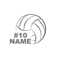 Volleyball player decal vector