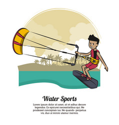 water sports banner vector image