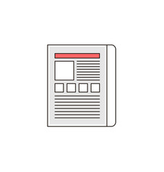 Web landing page outline icon vector