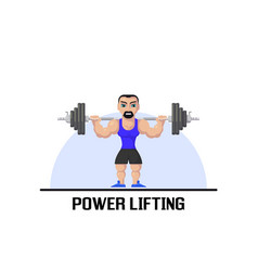 weight lifting athlete vector image