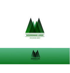 Woodsman green logo vector