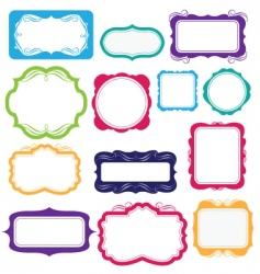 Bright frames and labels vector